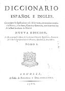 Diccionario Espa  ol e Ingles     Nueva edicion  revista y corregida despues de la edicion de Joseph Baretti   A Dictionary  English and Spanish  and Spanish and English  etc