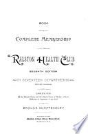 Book of General Membership in the Ralston Health Club