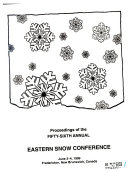 Proceedings of the Annual Eastern Snow Conference