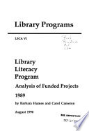Library Literacy Program  Analysis of Funded Projects Book