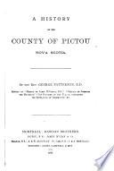 A History Of The County Of Pictou Nova Scotia