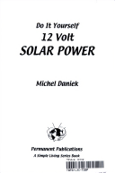 Do it yourself 12 volt solar power michel daniek google books title page solutioingenieria Images