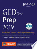 """GED Test Prep 2019: 2 Practice Tests + Proven Strategies"" by Caren Van Slyke"