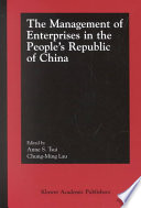 The Management of Enterprises in the People   s Republic of China