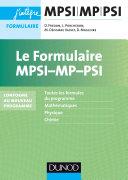 Le formulaire MPSI-MP - 5e éd.