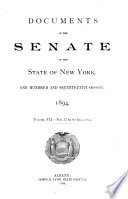 Documents of the Senate of the State of New York Book
