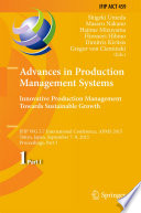 Advances In Production Management Systems Innovative Production Management Towards Sustainable Growth Book PDF