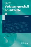 Verfassungsrecht II - Grundrechte