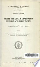 Copper and Zinc in Cyanidation Sulphide acid Precipitation