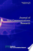 Journal Of New Communications Research Vol Ii Issue 1 Spring Summer 2007