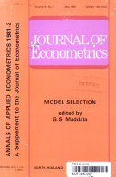 Journal of Econometrics  Model Selection  Volume 16  Number 1