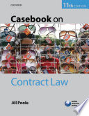 Casebook On Contract Law Book PDF
