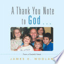 A Thank You Note to God