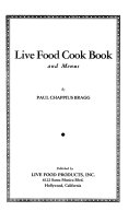 Live Food Cook Book and Menus
