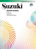 Suzuki Guitar School  Vol 4  Guitar Part  Book   CD