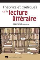 Pdf Théories et pratiques de la lecture littéraire Telecharger