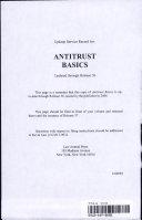 Pdf Antitrust Basics