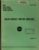 Solid Rocket Motor Igniters  NASA Space Vehicle Design Criteria  Chemical Propulsion
