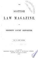 Scottish Law Magazine  and Sheriff Court Reporter