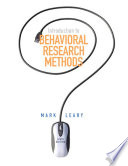 Introduction To Behavioral Research Methods PDF