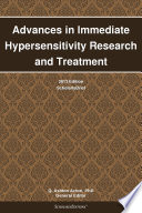 Advances in Immediate Hypersensitivity Research and Treatment  2013 Edition