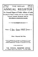 Indian Annual Register