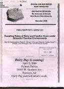 Arizona   New Mexico Dairy Newsletter