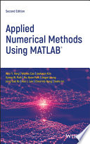 Applied Numerical Methods Using MATLAB Book