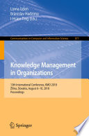 Knowledge Management In Organizations Book PDF