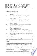 The Journal of East Tennessee History  , Ausgabe 78