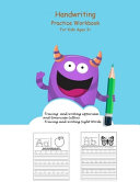 Handwriting Practice Workbook For Kids Ages 3