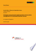 Strategies and systematic implementation of innovation management for sustainable business success Book