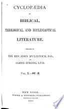Cyclopaedia of Biblical  Theological  and Ecclesiastical Literature  Su Z