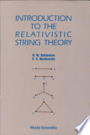 Introduction to the Relativistic String Theory