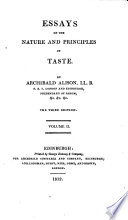 Essays on the nature and principles of taste  etc Book
