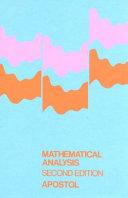Mathematical Analysis Book