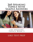 360 Speaking Topics with Sample Answers