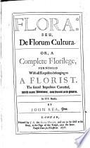 Flora  Seu  De Florum Cultura