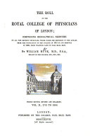 The Roll of the Royal College of Physicians of London  1701 to 1800