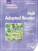 Elements of Literature, Grade 9 Holt Adapted Reader Third Course