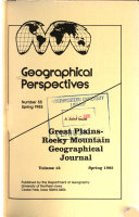 Geographical Perspectives
