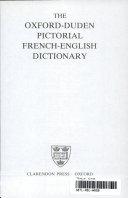 Oxford Duden Bildw  rterbuch   Franz  sisch und Englisch