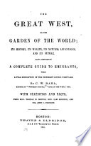The Great West  Or The Garden of the World