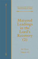 Matured Leadings in the Lord's Recovery (2) [Pdf/ePub] eBook