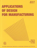 Applications of Design for Manufacturing Book