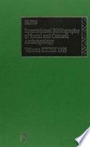 Bibliographie Internationale D Anthropologie Sociale Et Culturelle 1993