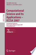 Computational Science And Its Applications Iccsa 2007 Book PDF