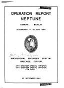 Operation Report Neptune  Omaha Beach  26 February 26 June 1944