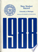 New Student Record  University of Michigan Book PDF
