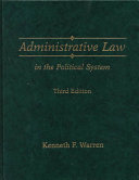 Administrative Law in the Political System